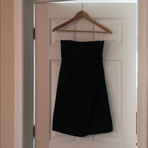 GAP Perfect Black fitted strapless dress